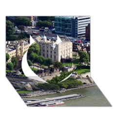 TOWER OF LONDON 1 Heart 3D Greeting Card (7x5)