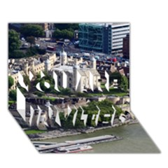 Tower Of London 1 You Are Invited 3d Greeting Card (7x5)