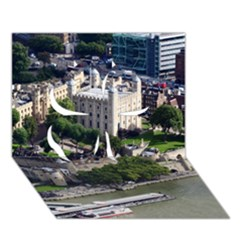 Tower Of London 1 Clover 3d Greeting Card (7x5)