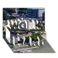 TOWER OF LONDON 1 WORK HARD 3D Greeting Card (7x5)