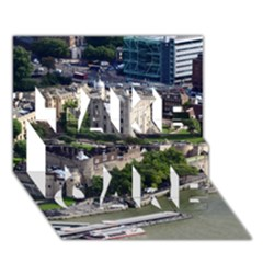 Tower Of London 1 Take Care 3d Greeting Card (7x5)