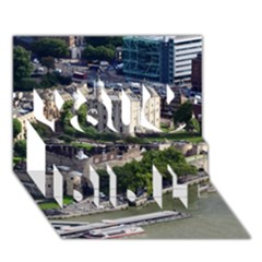 Tower Of London 1 You Did It 3d Greeting Card (7x5)