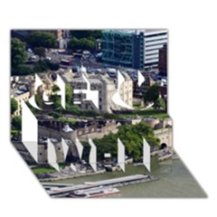 Tower Of London 1 Get Well 3d Greeting Card (7x5)