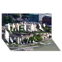 TOWER OF LONDON 1 Merry Xmas 3D Greeting Card (8x4)