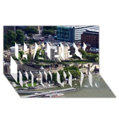 TOWER OF LONDON 1 Happy New Year 3D Greeting Card (8x4)