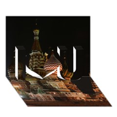 St Basil s Cathedral I Love You 3d Greeting Card (7x5)
