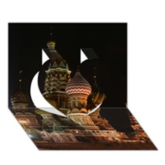 St Basil s Cathedral Heart 3D Greeting Card (7x5)