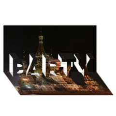 St Basil s Cathedral Party 3d Greeting Card (8x4)
