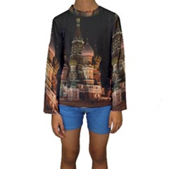 St Basil s Cathedral Kid s Long Sleeve Swimwear