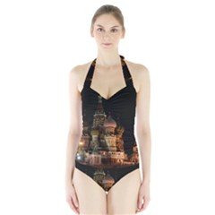 St Basil s Cathedral Women s Halter One Piece Swimsuit