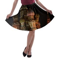St Basil s Cathedral A-line Skater Skirt