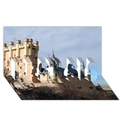 Segovia Castle Best Sis 3d Greeting Card (8x4)