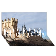 SEGOVIA CASTLE ENGAGED 3D Greeting Card (8x4)
