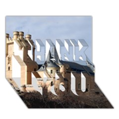 SEGOVIA CASTLE THANK YOU 3D Greeting Card (7x5)