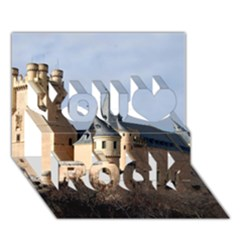 SEGOVIA CASTLE You Rock 3D Greeting Card (7x5)
