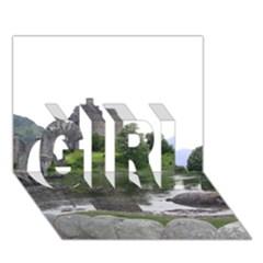 SCOTLAND EILEAN DONAN GIRL 3D Greeting Card (7x5)