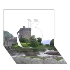 Scotland Eilean Donan Apple 3d Greeting Card (7x5)