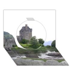 SCOTLAND EILEAN DONAN Circle 3D Greeting Card (7x5)