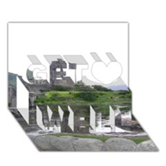 SCOTLAND EILEAN DONAN Get Well 3D Greeting Card (7x5)