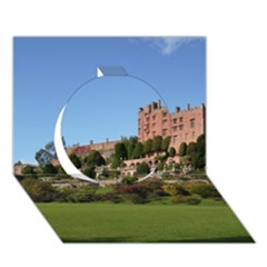 POWIS CASTLE TERRACES Circle 3D Greeting Card (7x5)