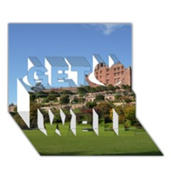 POWIS CASTLE TERRACES Get Well 3D Greeting Card (7x5)