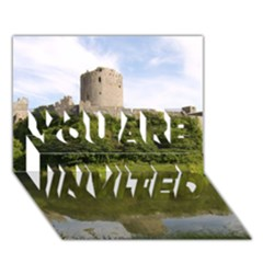 PEMBROKE CASTLE YOU ARE INVITED 3D Greeting Card (7x5)