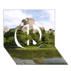 PEMBROKE CASTLE Peace Sign 3D Greeting Card (7x5)