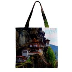 Paro Taktsang Zipper Grocery Tote Bags