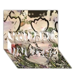 Art Studio 7216 YOU ARE INVITED 3D Greeting Card (7x5)