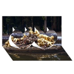 Palace Of Versailles 3 Twin Hearts 3d Greeting Card (8x4)