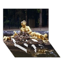 PALACE OF VERSAILLES 3 LOVE Bottom 3D Greeting Card (7x5)