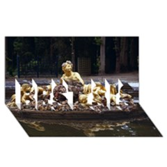 PALACE OF VERSAILLES 3 BEST SIS 3D Greeting Card (8x4)