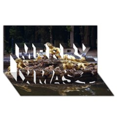 Palace Of Versailles 3 Merry Xmas 3d Greeting Card (8x4)