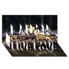 PALACE OF VERSAILLES 3 Laugh Live Love 3D Greeting Card (8x4)