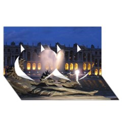 PALACE OF VERSAILLES 2 Twin Hearts 3D Greeting Card (8x4)
