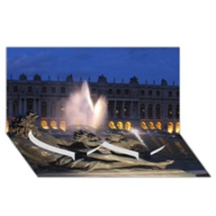 PALACE OF VERSAILLES 2 Twin Heart Bottom 3D Greeting Card (8x4)