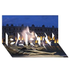 PALACE OF VERSAILLES 2 PARTY 3D Greeting Card (8x4)
