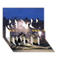 PALACE OF VERSAILLES 2 Get Well 3D Greeting Card (7x5)