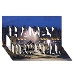 Palace Of Versailles 2 Happy New Year 3d Greeting Card (8x4)