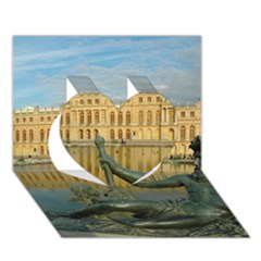 PALACE OF VERSAILLES 1 Heart 3D Greeting Card (7x5)