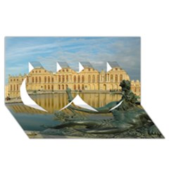 PALACE OF VERSAILLES 1 Twin Hearts 3D Greeting Card (8x4)
