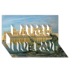 PALACE OF VERSAILLES 1 Laugh Live Love 3D Greeting Card (8x4)