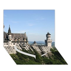 NEUSCHWANSTEIN CASTLE 2 Heart Bottom 3D Greeting Card (7x5)