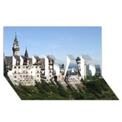 Neuschwanstein Castle 2 #1 Dad 3d Greeting Card (8x4)