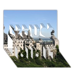NEUSCHWANSTEIN CASTLE 2 You Did It 3D Greeting Card (7x5)