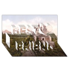NEUSCHWANSTEIN CASTLE Best Friends 3D Greeting Card (8x4)