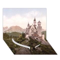 NEUSCHWANSTEIN CASTLE Heart Bottom 3D Greeting Card (7x5)