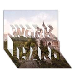 NEUSCHWANSTEIN CASTLE WORK HARD 3D Greeting Card (7x5)