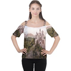 NEUSCHWANSTEIN CASTLE Women s Cutout Shoulder Tee