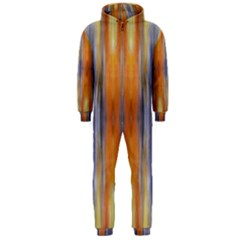 Gray Orange Stripes Painting Hooded Jumpsuit (men)